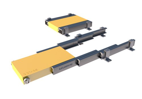 3 stage telescopic linear motion system