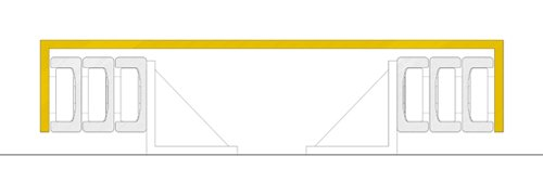 3 stage mast cantilever section
