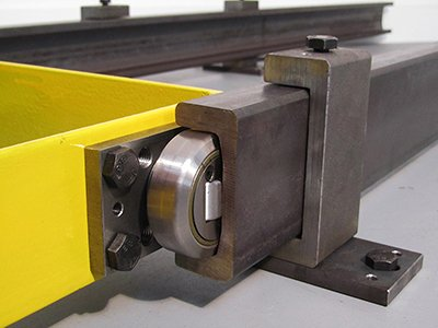 combined roller bearing and rails