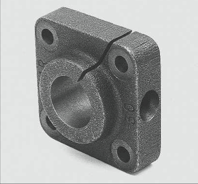 flanged end supports for shafting