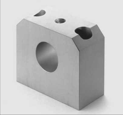 aluminium end support for linear shafts