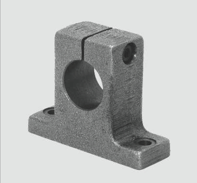 cast iron end support for linear shaft
