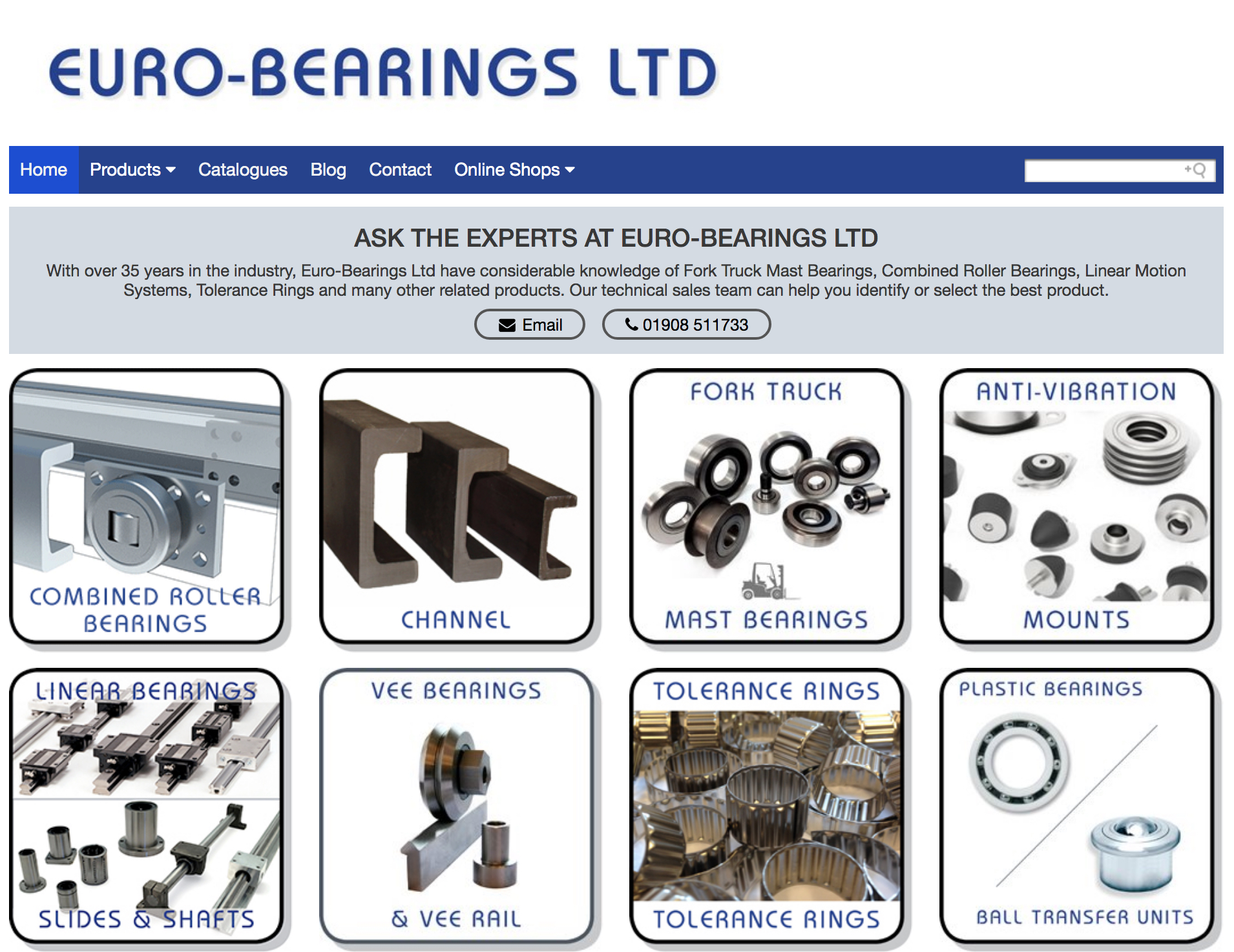 euro-bearings new website