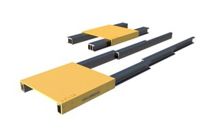 Three stage telescopic linear system