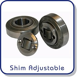 Shim adjustable combined roller bearings
