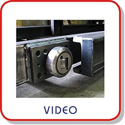Video of combined roller bearings and steel profiles