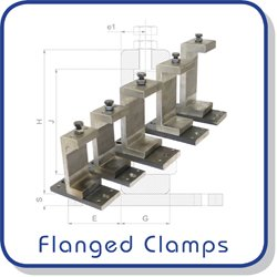 Flanged clamps for fixing channels