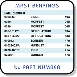 mast bearing part numbers