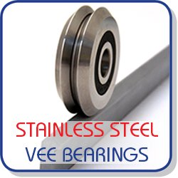 Stainless steel vee bearings