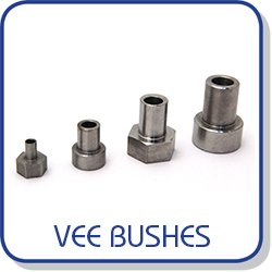 Bushes for fixing vee bearings