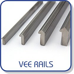 Vee rails with 90º angle