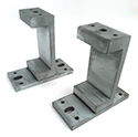 CF flange clamps with TDC coating