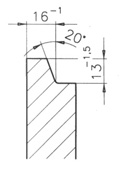 fork hanger bar profile
