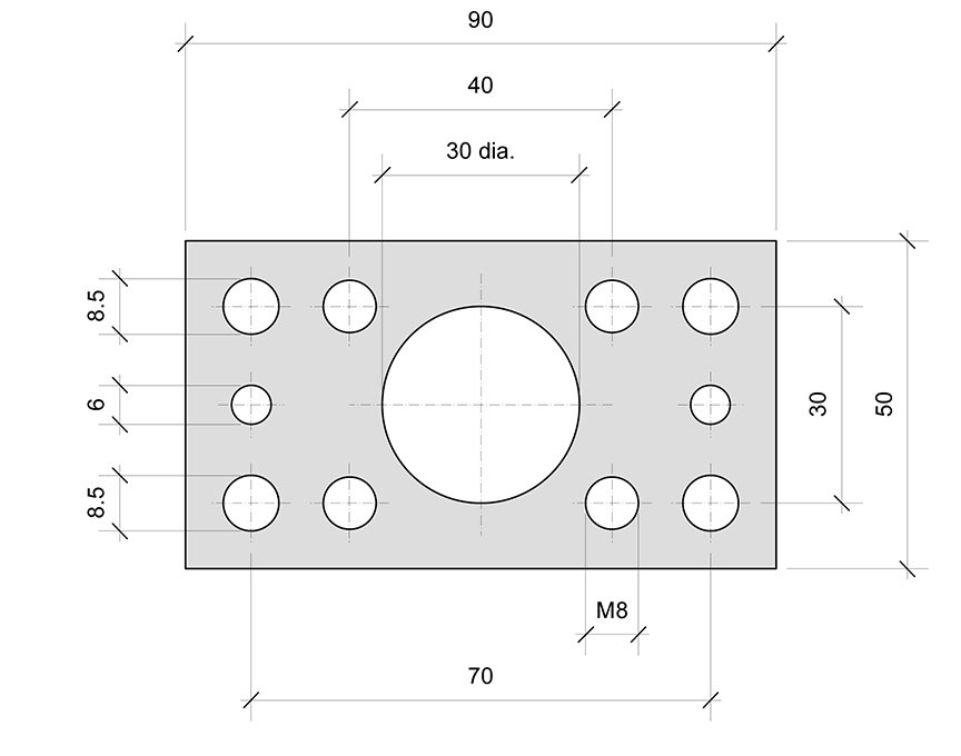PL00 mounting plate